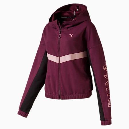 HIT Feel It Women's Sweat Jacket, Vineyard Wine Heather, small