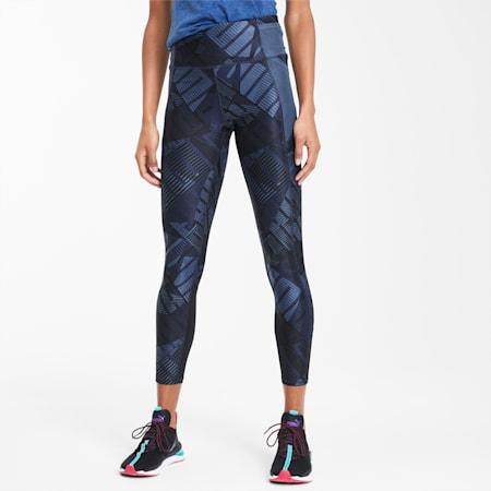 Be Bold AOP Women's 7/8 Leggings, Dark Denim-Be Bold Q1 Prt, small