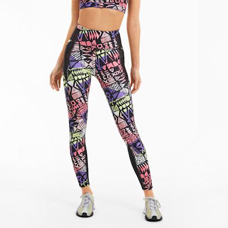Be Bold AOP Women's 7/8 Leggings, Purple Corallites-Multi Prt, small