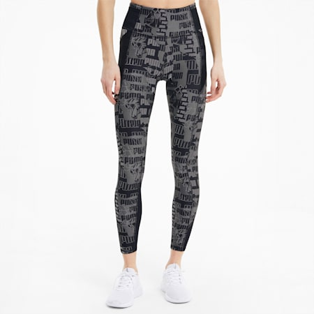 Be Bold Damen Training 7/8 Leggings, Ultra Gray-AOP, small