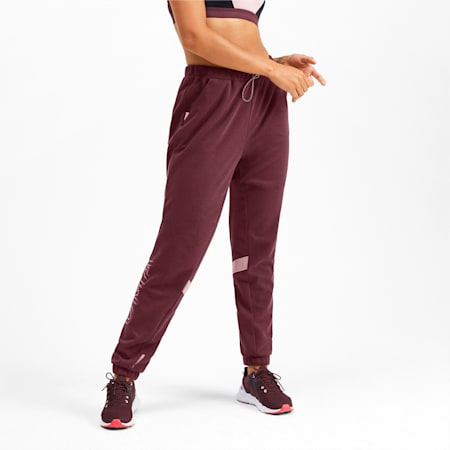 HIT Feel It Knitted Women's Training Sweatpants, Vineyard Wine Heather, small-IND