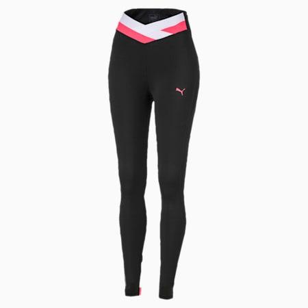 HIT Feel It 7/8 Women's Training Leggings, Puma Black-Pink Alert, small-SEA