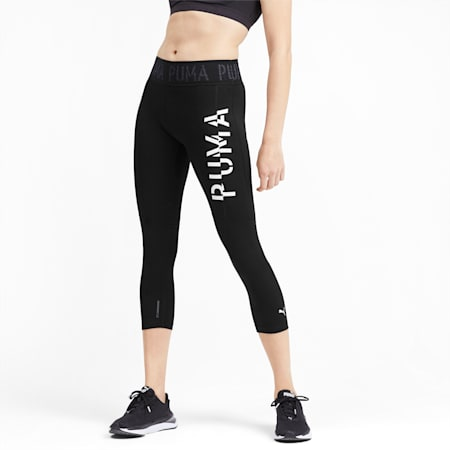 Logo Women's 3/4 Leggings, Puma Black, small