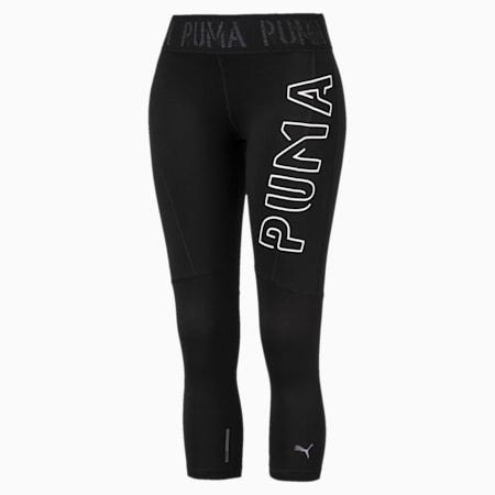 Logo 3/4 Women's Training Tights, Puma Black, small-SEA