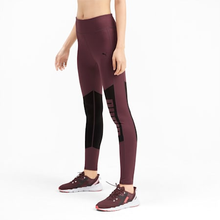 Logo Graphic Women's 7/8 Leggings, Vineyard Wine-Puma Black, small