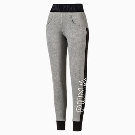 Logo Women's Sweatpants, Medium Gray Heather-Q4, small