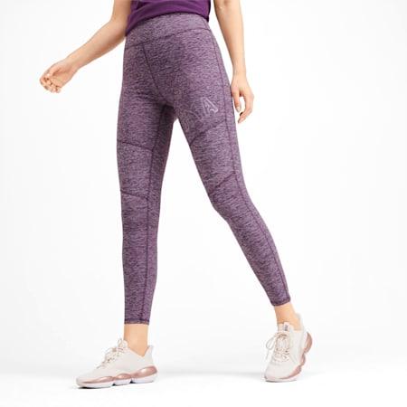 Studio Women's Leggings, Plum Purple Heather, small