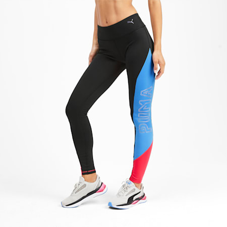 Be Bold Women's Training Leggings, Puma Black-Blue Glimmer, small-IND