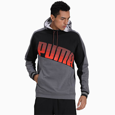 Collective Men's Hoodie, CASTLEROCK-Puma Black, small-IND