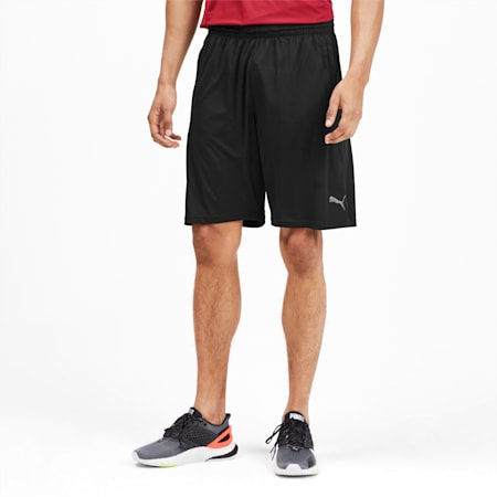 Short en maille Collective Training pour homme, Puma Black-Nrgy Red, small