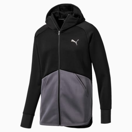 Power BND Men's Training Jacket, Puma Black-CASTLEROCK, small