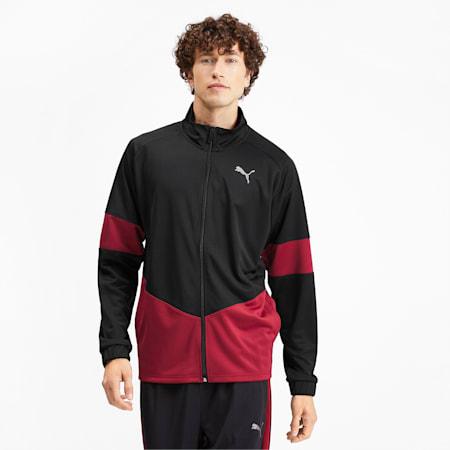 PUMA Blaster dryCELL Men's Jacket, Puma Black-Rhubarb, small-IND
