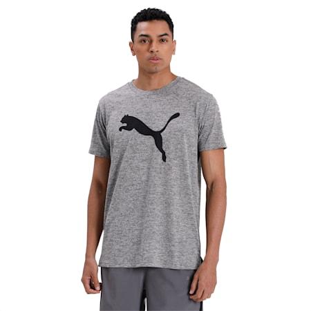 Heather Cat dryCELL Training T-Shirt, Medium Gray Heather, small-IND