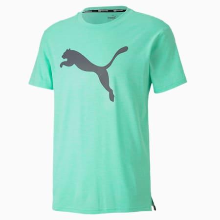 T-shirt Training Heather Cat uomo, Green Glimmer Heather, small