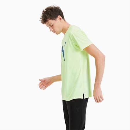 Heather Cat trainings-T-shirt voor heren, Fizzy Yellow Heather, small
