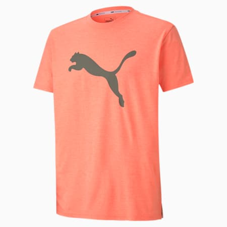 T-shirt Training Heather Cat uomo, Nrgy Peach Heather, small