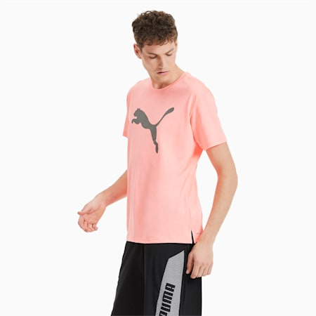 T-Shirt Heather Cat Training pour homme, Nrgy Peach Heather, small