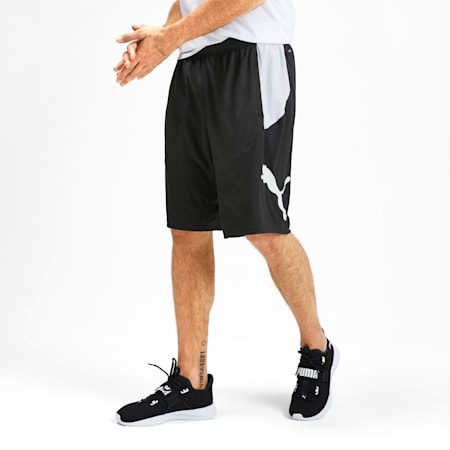 PUMA Cat Men's Shorts, Puma Black-Puma White, small