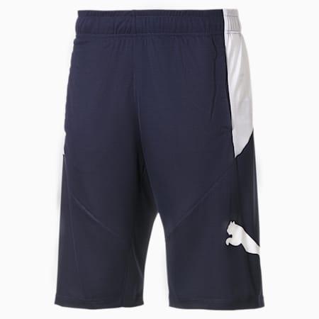 Shorts da allenamento da uomo Cat, Peacoat-Puma White, small