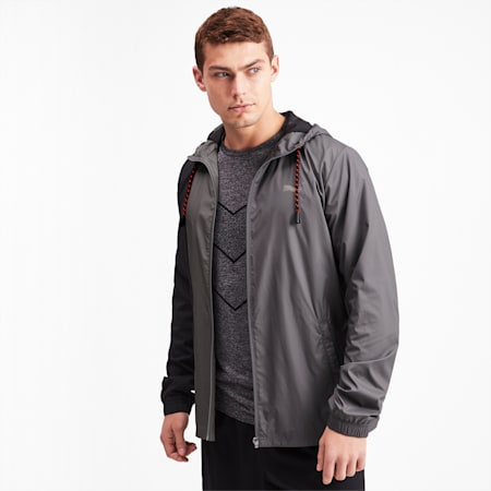 Collective Men's Woven Jacket, CASTLEROCK-Puma Black, small