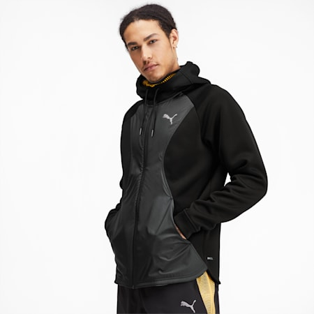 Collective Protect Men's Training Jacket, Puma Black, small-IND