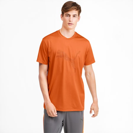 Collective Graphic Men's Training Tee, Jaffa Orange, small-SEA