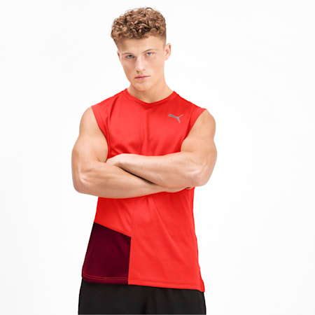 IGNITE dryCELL Men's Running Tank Top, Nrgy Red-Rhubarb, small-IND