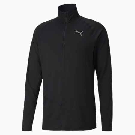이그나이트 하프집업 긴팔 티셔츠, Puma Black, small-KOR
