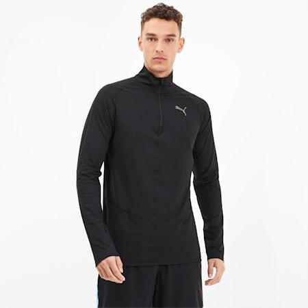 이그나이트 하프집업 긴팔 티셔츠/Ignite Halfzip Top, Puma Black, small-KOR