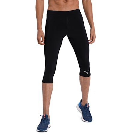 IGNITE 3/4 dryCELL Men's Running Tights, Puma Black, small-IND