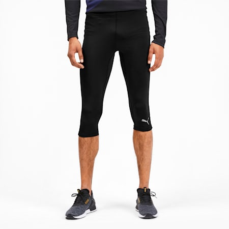 IGNITE 3/4 Men's Running Tights, Puma Black, small-SEA