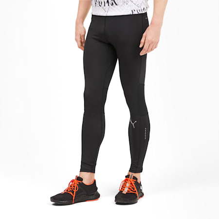 IGNITE Long Men's Running Tights, Puma Black, small-SEA