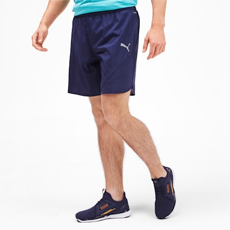 Last Lap Woven 2 in 1 Men's Running Shorts, Peacoat, small-IND