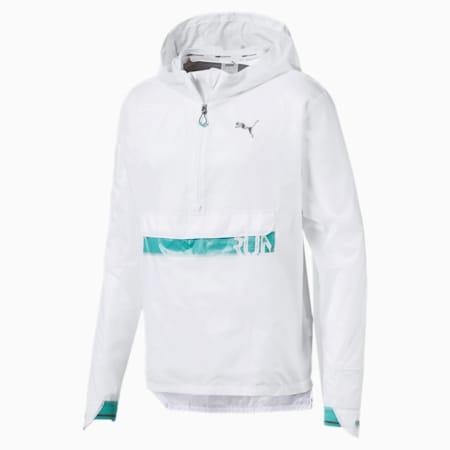 Get Fast Excite Woven Half Zip Men's Running Jacket, Puma White, small-IND