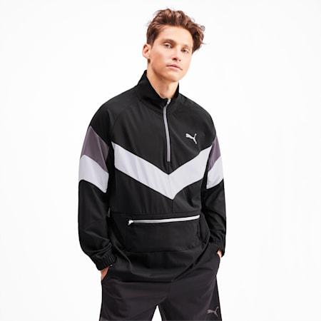 Reactive Men's Packable Jacket, Black-White-CASTLEROCK, small