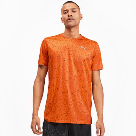IGNITE Graphic Short Sleeve Men's Running Tee, Jaffa Orange-AOP, small-IND