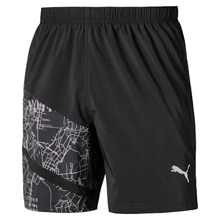 "IGNITE AOP Graphic 7"" Men's Running Shorts, Puma Black-AOP, small-IND"