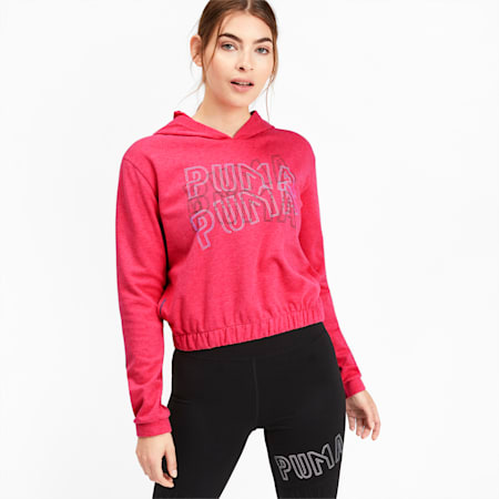 Feel It Women's Training Hoodie, Nrgy Rose Heather, small-IND
