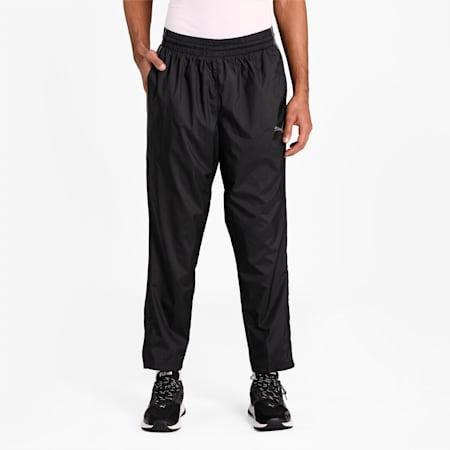 Reactive Woven Men's Training Pants, Puma Black-CASTLEROCK, small-IND