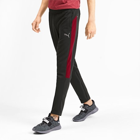 PUMA Cat Men's Sweatpants, Puma Black-Rhubarb, small-SEA