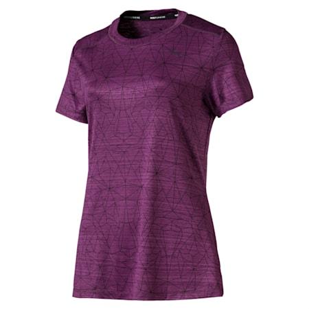 Last Lap Graphic Women's Running Tee, Plum Purple, small-IND