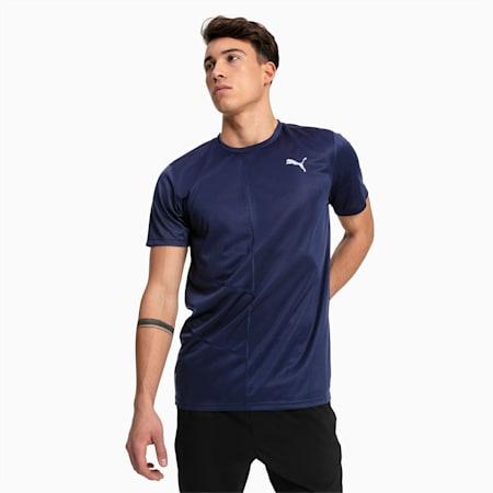 IGNITE Short Sleeve hardloop-T-shirt voor heren, Peacoat, small