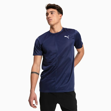 IGNITE Short Sleeve Men's Running Tee, Peacoat, small-GBR