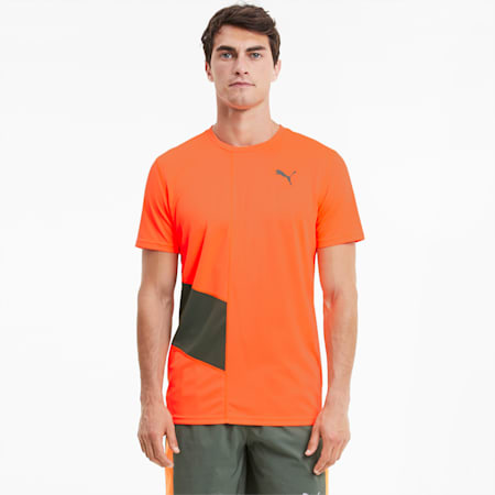 Ignite Men's Running Tee, Ultra Orange-Thyme, small