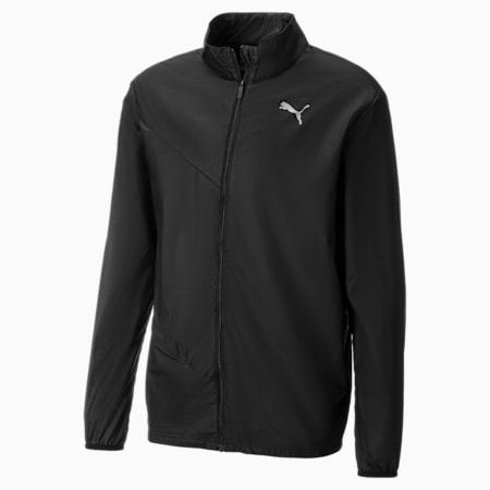 IGNITE Woven Men's Running Jacket, Puma Black-Puma Black--black, small-SEA