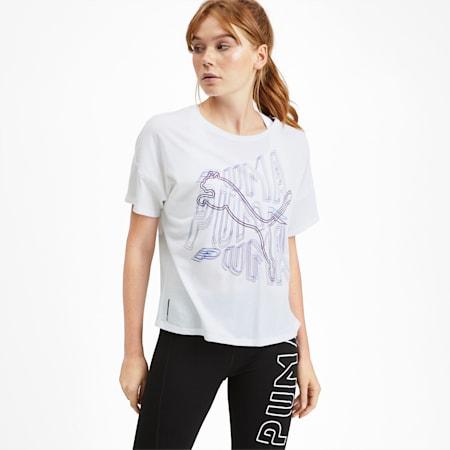 フィール イット SS ウィメンズ トレーニング Tシャツ 半袖, Puma White, small-JPN