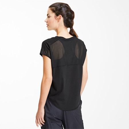 スタジオ SS ウィメンズ トレーニング メッシュ キャット Tシャツ 半袖, Puma Black, small-JPN
