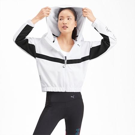 フィール イット ウィメンズ トレーニング スウェットジャケット, Puma White, small-JPN