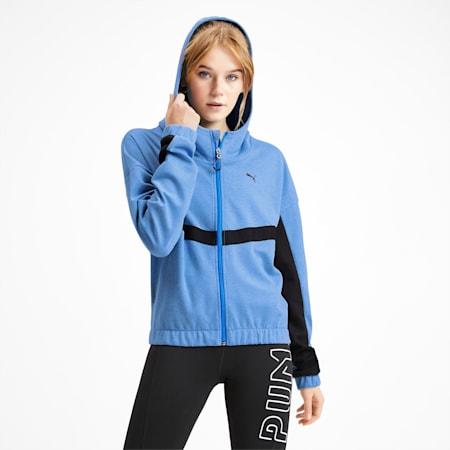 フィール イット ウィメンズ トレーニング スウェットジャケット, Blue Glimmer Heather, small-JPN