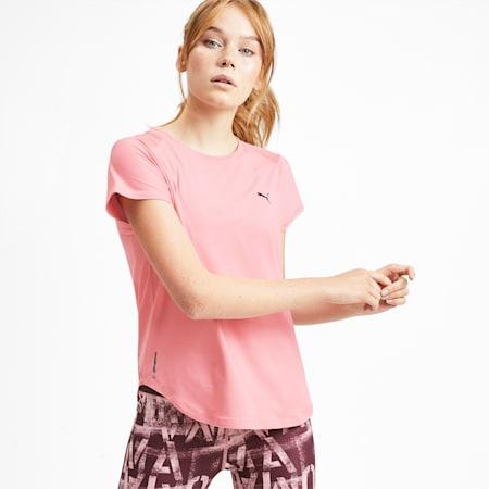 スタジオ SS メッシュ ウィメンズ トレーニング Tシャツ 半袖, Bridal Rose, small-JPN